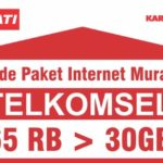 Paket Internet Murah Telkomsel Bulanan 65rb 30GB